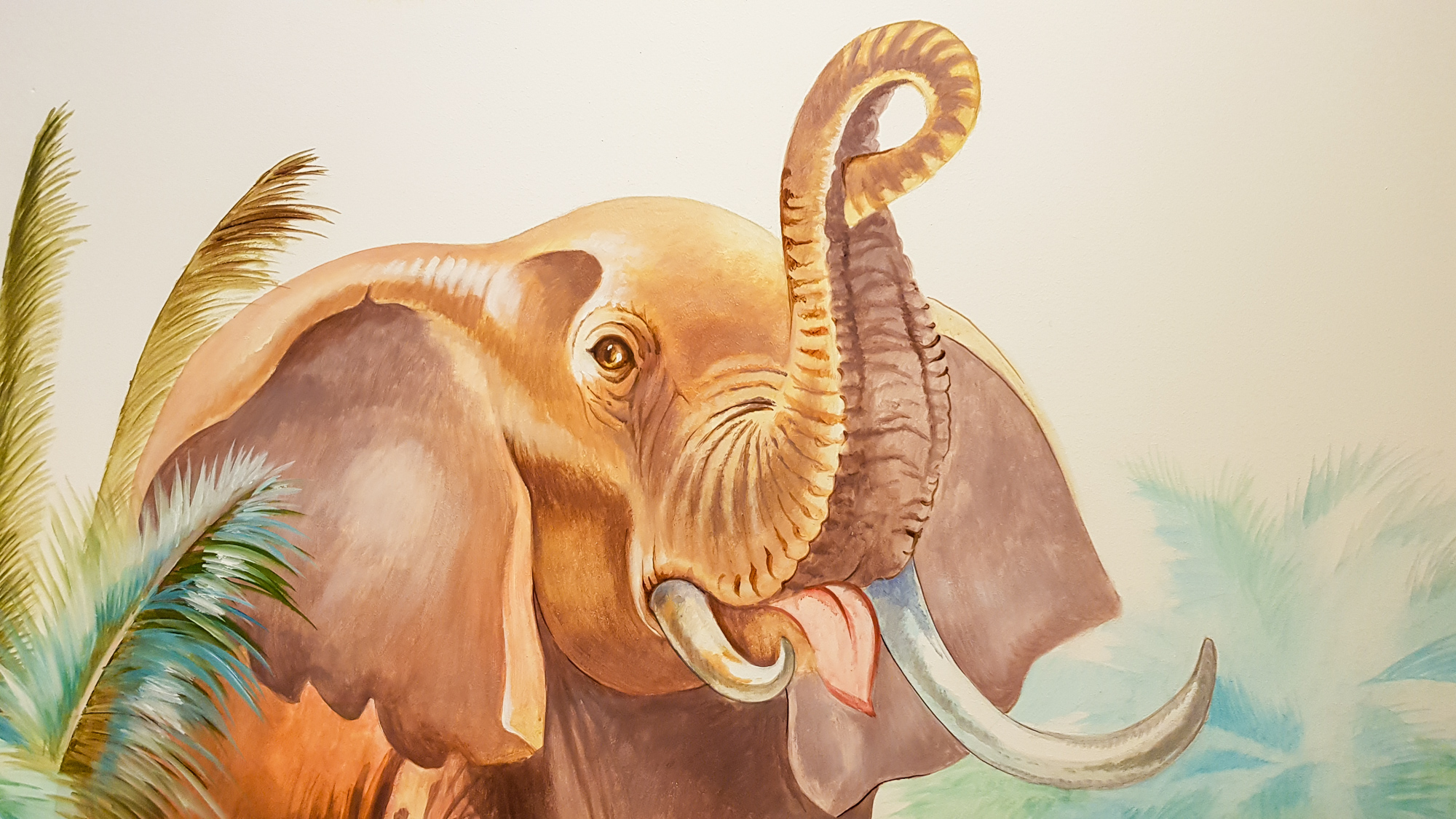 Wandmalerei Elefant im Minihaus München