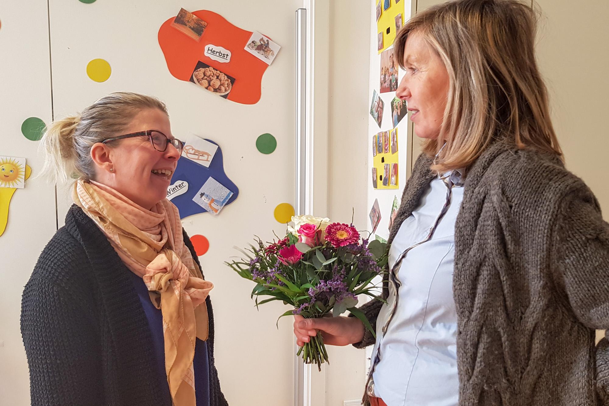 Anke Tömmel und Sabine Kobusch acht Jahre Job im MINIHAUS München